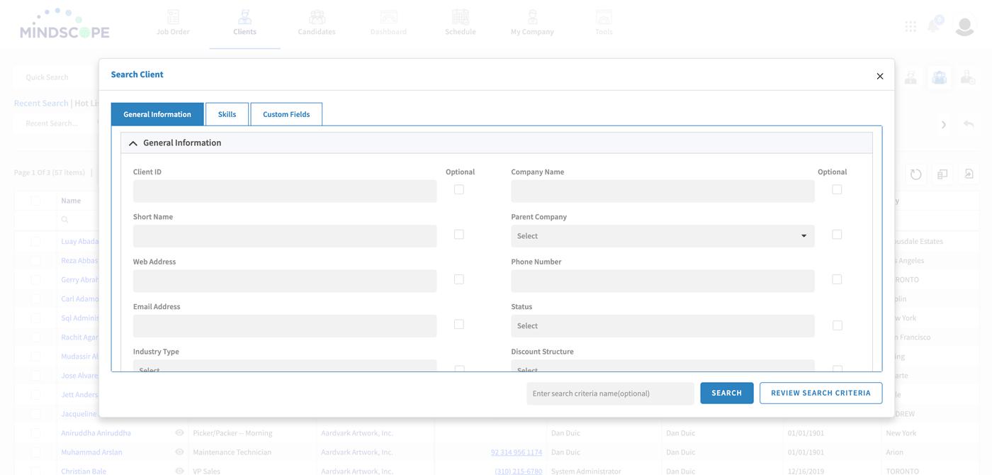 ui search client